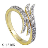 925 Sterling Silver New Design Pave Cubic Zirconia Ring.