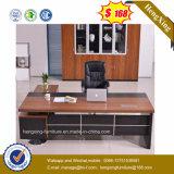 Wooden MDF Office Furniture Center Lock Pedestal Attached Desk (HX-6M247)