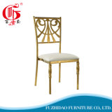 Pattern 01 Stainless Steel Gold-Plated Dining Chair