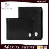 Hot Sale Real Black Cowhide Leather Card Wallet for Men