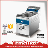 Hgf 779 1-Tank 1-Basket Table Top Gas Fryer From Flamemax