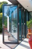 Low E Glass Sliding Folding Aluminum Door for Export