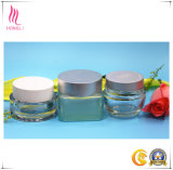 2017 Best Selling Frosted Transparent Shaped Refillable Bottles for Skin Care with Aluminum Coloured Caps