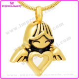 Angel Girl Hold Heart Cremation Urn Pendant Necklace