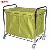 2017 Best Seller Green Heavy Duty Hotel Laundry Trolley
