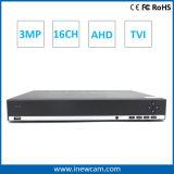 3MP 16channel P2p Onvif HDMI CCTV Ahd DVR