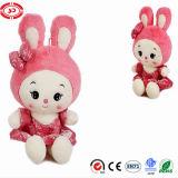 Cute Sitting Stuffed Pink Soft Bunny Plush Doll Toy