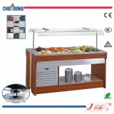 Cheering Wood Body and Marble Table Salad Bar