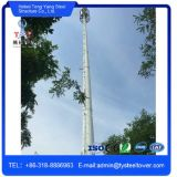 Hot Dipped Galvanized GSM Microwave Steel Pole Tower
