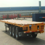 3 Axles Skeleton and Flat Bed Container Semi Trailer