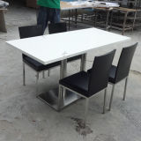 Modern 4 Seaters Solid Surface Marble Coffee Table and Chair (V70204)