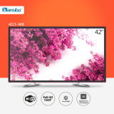 "42"" Low Power Consumption Smart Television for Home/Hotel with Aluminium Alloy Fram 42j1-W8"