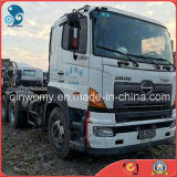 Used-2008 Double-Sleeper Air-Condition-System High-Top-Cabin 6*4-LHD-Drive Hino 700 Trailer Tractor Truck