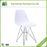 PP Seat with Chromed Steel Base Modern Fashion Design Dining Room Chair (Heather)