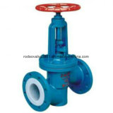 PFA Lined Flanged Industrial Globe Valve for Chemical