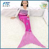 Charming Child Knitting Acrylic Mermaid Blanket Anti-Pilling