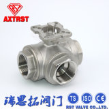 Three Way Thread Floating Ball Valve with ISO5211 High Mounting