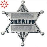 Souvenir Making Plating Antique Six Star Badges Manufacturer