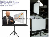 "4: 3 100"" Manual Pull up Tripod Projector Screen Portable Floor Stand Screen"