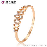 Fashion Pretty Rose Gold -Plated Bangle with Oval Small Circles