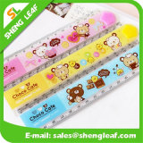 Colorful Plastic Ruler with Cartoon Logo Printing (SLF-RR017)