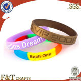 Wholesale No Minimum Free Shipping Custom Colorful Rainbow Fitness Sports Silicon Bracelet