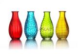 Hot Sell Glass Bottle Colorful Glass Vase for Home Decoration