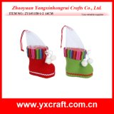 Felt Xmas Boot Shoe Christmas Ornament Promotion Gift Item