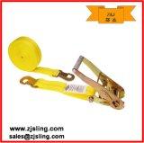 """2"""" Flat Snap Hooks Ratchet Straps 2"""" X 8′ Yellow"""