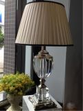 Phine 90222 Clear Crystal Table Lamp with Fabric Shade
