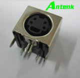 Mini DIN 4p Socket, Right Angle with Shield