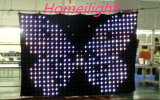 P18 4m*6m RGB3in1 Color, LED Vision Curtain, LED Video Cloth, DJ Backdrops for Wedding, Stage