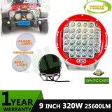 12V-24V 320W Red 9inch CREE IP67 LED Spot Work Light