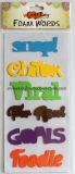 Newest Multicolored Foam Words Stickers