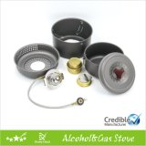 Gas Burner with an Extra Alcohol Burner
