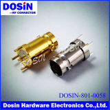 Gold /Nickel Plated Straight Solder Female DIP BNC for PCB Appliance