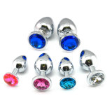 Mini Size Stainless Steel Jewel Anal Plug for Couple Flirt