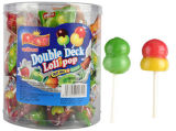 Double Deck Lollipop with Two Candy One Pop for Kids