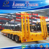 Construction Machine/Container Transport 15.8m 80tons Low Bed Trucktrailer for Sale
