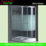 Simple Painting Tempered Glass Sliding Bathroom Shower Enclosure (TL-511)
