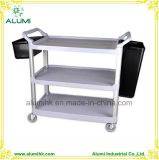 Three Layers Service Cleaning Mobile Service Cart Cleaning Trolly