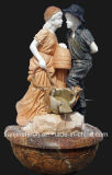 Stone Carving Child Fountain, Home Fountain (FNT075)