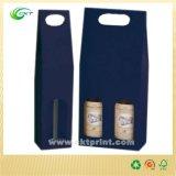 Custom Cardboard Wine Box, Wine Holder Case for Two Bottle (CKT- CB-121)