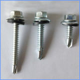Plated Hex Self Drilling Roofing Screw Wirh Rubber Washer