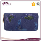 Fani PU Leather Coin Purse, Leather Lady Wallet Butterfly Printed, Zip Wallet
