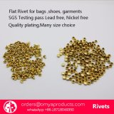 Quality Shinny Golden Brass Flat Rivets for Hand Bags Shoes Garmetns