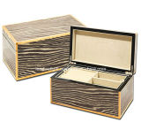 High Gloss Lacquer Java Zebra Jewelry Box