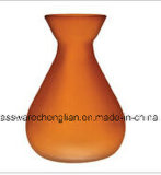 Frosted Orange Color of Glass Vase (V-016)