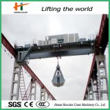 Double Girder Overhead Travelling Crane with Grab