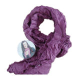 Compressed Knitted Scarf, 100% Cotton, Plain Dyed, Fashional Scarf Yt-737